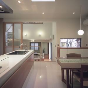 鴨池スキップフロアーの家