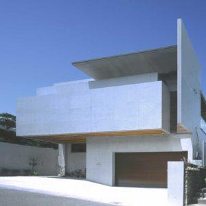 明和の桜島を望む家